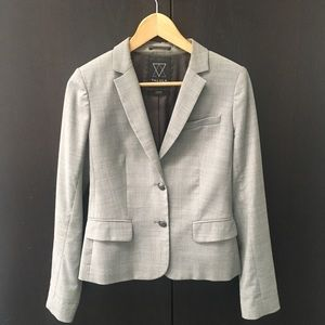 Aritzia grey fitted jacket